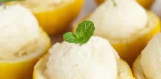 Sorbet au citron sans sorbetière