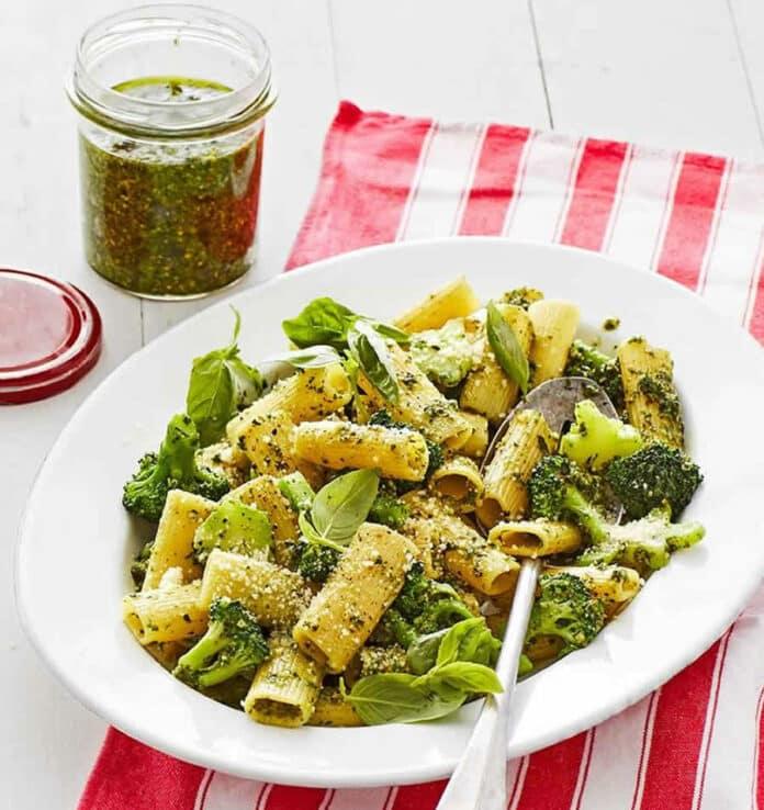 Pâtes au brocoli et pesto au thermomix