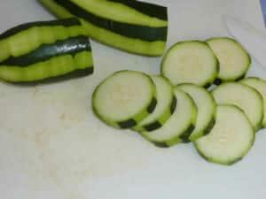 Rondelles de courgettes au fromage au four 1