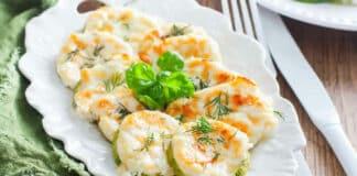 Rondelles de courgettes au fromage au four