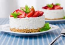Cheesecake aux fraises sans cuisson