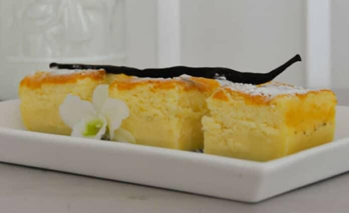 Gâteau magique et moelleux à la vanille