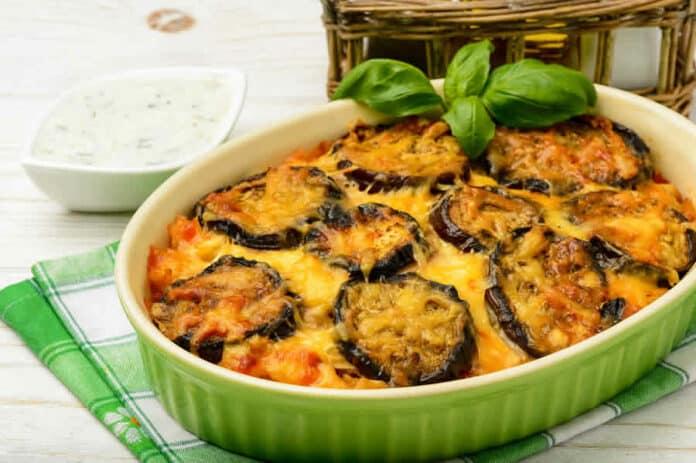 Gratin aubergines italien