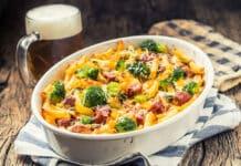 Gratin des pâtes au brocoli et saucisse