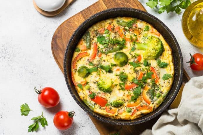Quiche aux légumes sans pâte