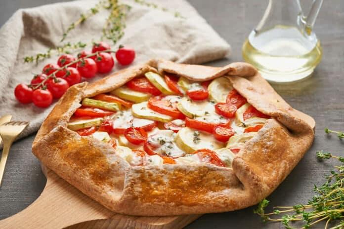 Tarte aux tomates et courgettes
