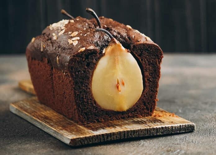 Cake moelleux aux poires et chocolat