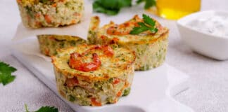 Muffins aux courgettes fromage et aux crevettes