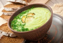 Velouté de courgettes et fromage au thermomix