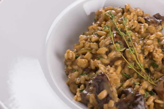 Risotto aux champignons - la recette facile