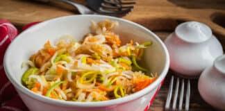 Salade de poireaux pommes et carottes