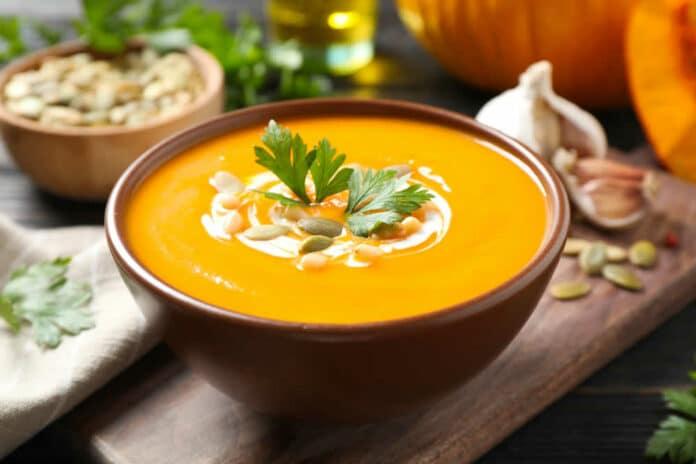 Soupe butternut poireaux