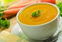 Soupe courge butternut et carotte au thermomix